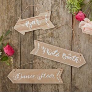 Floral Boho Wooden Arrow Signs (3)