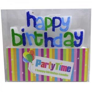 Happy Birthday Candle (Blue)