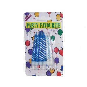 Blue Assorted Birthday Candles