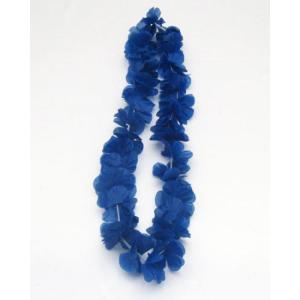 Luau Flower Garland Dark Blue
