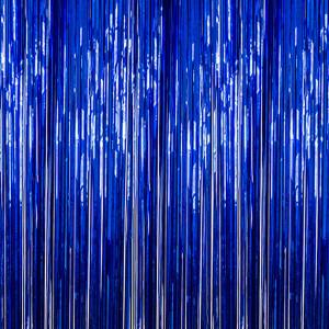 Blue Foil Fringe Backdrop