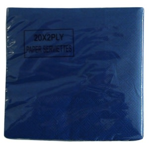 Navy Blue Serviettes - Small (20)