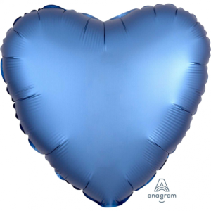 Satin Luxe Azure Heart Foil Balloon 18inch