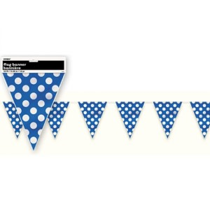 Royal Blue Dotted Bunting