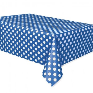 Royal Blue Dotted Table Cover