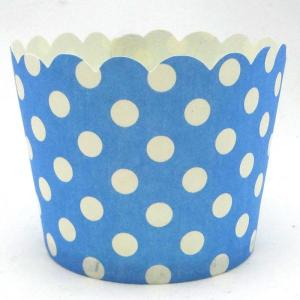 Sky Blue Dotted Baking Cup (25)