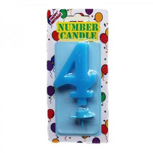 Blue Number Candle 4