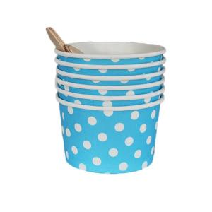 Sky Blue Dotted Ice Cream Cups (6)