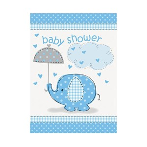 Blue Umbrellaphant Party Invitations (8)