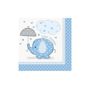 Blue Umbrellaphant Beverage Napkins (16)