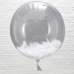 Beautiful Botanics Huge White Feather Balloon Orbs (3)