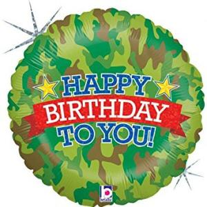 Camo Birthday Foil Balloon