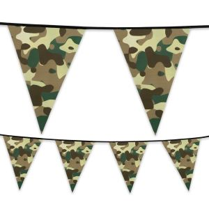 Camo Military Plastic Flag Bunting