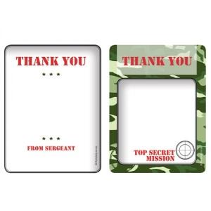 Camo Party - Thank You Cards (8)