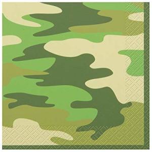 Camo Military Lunch Napkins (16)