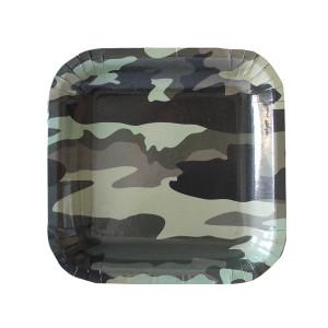 Camo Military Square Plates Small (10)