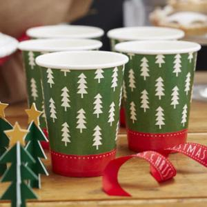 Christmas Patterns Paper Cups (8)