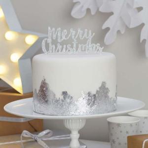 Christmas Metallics - Merry Christmas Cake Topper