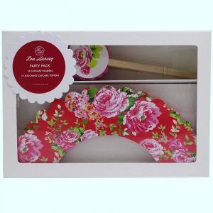 Red China Rose Cupcake Decorating Kit (24pc)