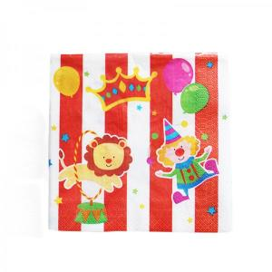 Circus Themed Paper Napkins (12)