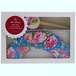 Turquoise China Rose Cupcake Decorating Kit (24pc)
