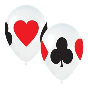 Card Suit Assorted Latex Balloons (5)
