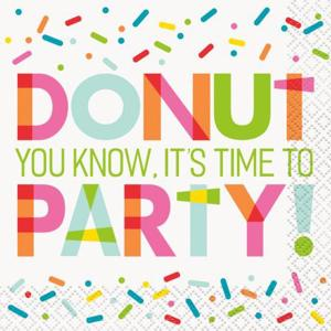 Donut Sprinkles Party Beverage Napkins (16)