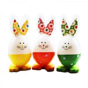 Easter Egg Bunnies Yellow, Orange & Green (3)