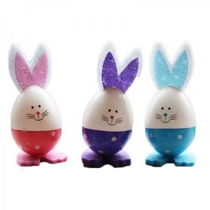 Easter Egg Bunnies Pink, Purple and Blue (3)