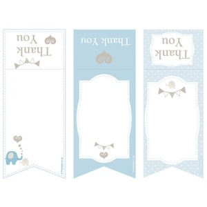 Elephant Baby Shower - Gift Bag Tags (8)