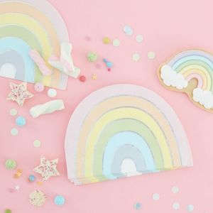 Pastel Party Rainbow Shaped Serviettes (16)