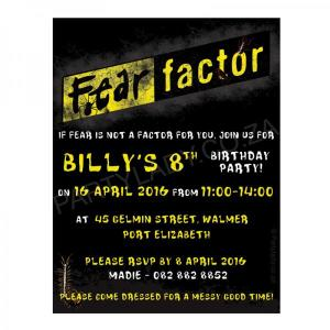 Fear Factor Party - Invitations (8)