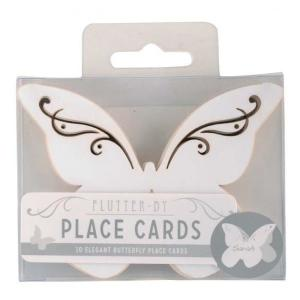 Flutter-by - Butterfly Place Cards in White (10)