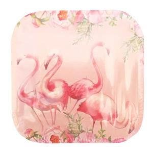 Floral Flamingo Plates Large (10)