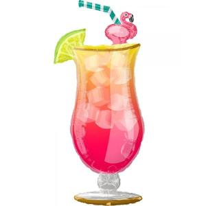 Flamingo Tropical Drink Foil Balloon