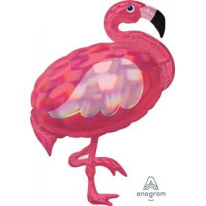 Flamingo Iridescent Supershape Foil Balloon