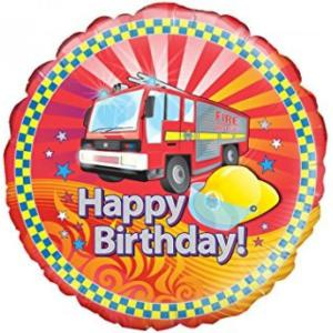 Fire Engine Foil Balloon