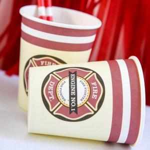 Fire Truck Vintage Cups (8)