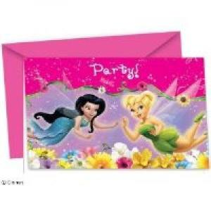 Disney Fairies Invitations & Envelopes (6)