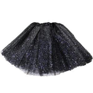 Glitter Tutu Kiddies Size 30cm- Black