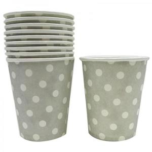 Grey Dotted Paper Cups (10)
