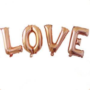 LOVE Rose Gold Foil Letter Balloons 17 inch