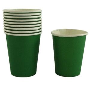 Dark Green Paper Cups (10)
