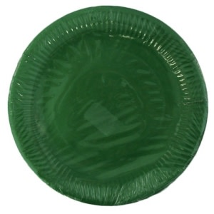 Dark Green Paper Plates 10