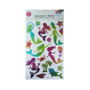 Mermaid Glitter Stickers