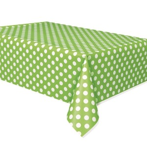 Lime Green Dotted Table Cover