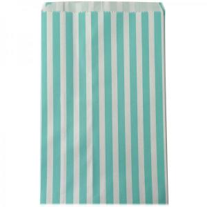 Mint Green Striped Candy Bags (25)