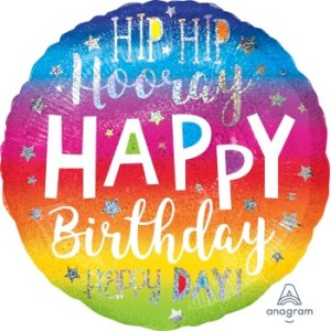 Hip Hip Hooray Birthday Foil Balloon 18 Inch