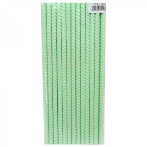 Mint Green Chevron Party Straws (25)