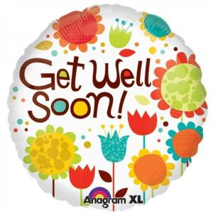 Get Well SoonFloral foil Balloon